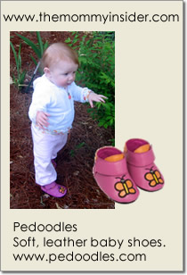 Pedoodles - Soft, leather baby shoes.