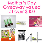 Mother's Day Giveaway prize package - over $300 value