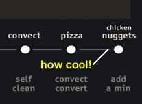 Frigidaire range - chicken nugget button