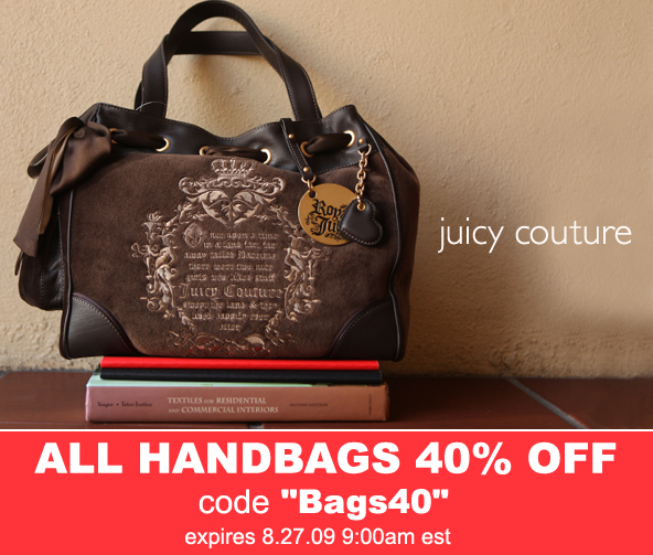 Shop Rapunzels 40% off all handbags!