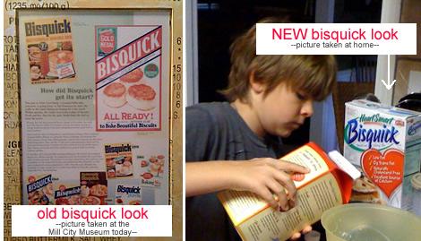Old Bisquick versus new bisquick