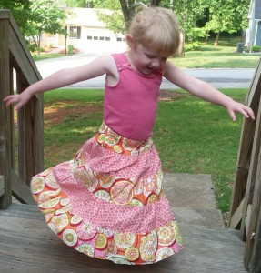 Sweet Funky Vintage five tier Lily skirt