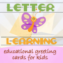 Letter Learning educational greeting cards for kids