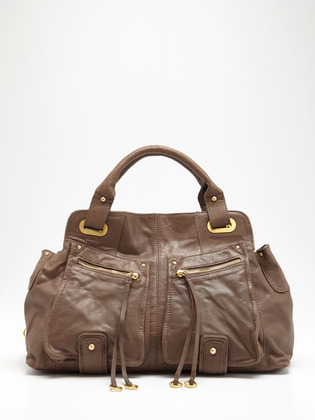 BCBGMAXAZRIA Femme Fatale Medium Satchel on Gilt