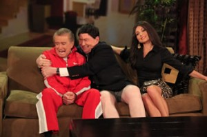 Regis and Kelly dressed up as Modern Family characters