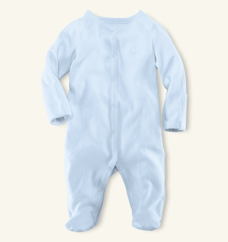 Solid White or Blue Ralph Lauren coverall - layette
