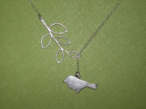 Etsy bird necklace