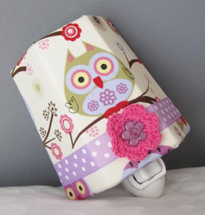 Girly Owl Night Light on Etsy