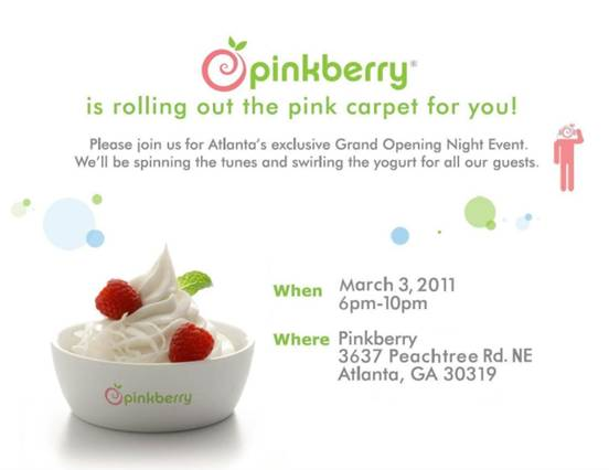 Pinkberry Grand Opening Atlanta
