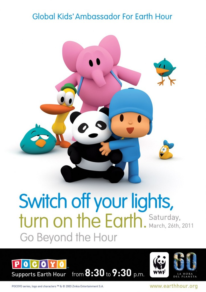 Pocoyo Global Kids' Ambassador for Earth Hour