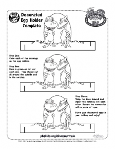 Dinosaur Train Easter Egg printable
