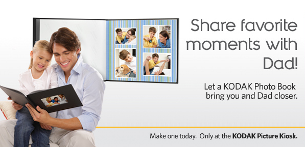 8x10 Kodak Photo Books: Buy One, Get One Free June 6-19 - Great Father's Day Gift!