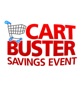 Kroger Cart Buster Savings Event, Kroger, Ralphs, King Scoopers, City Market, Dillons, Smith's, Fry's, QFC, Baker's, Owen's, Jay C Food Stores, Hilander, Gerbes, Food4Less, Fred Meyer, Pay Less Supermarkets, Scott's food & Pharmacy