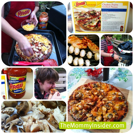 Recipe & Giveaway: Chicken Fajita Grilled Pizza with Ragu Sauce