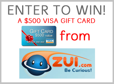 Win a $500 Visa Gift Card from Zui.com! #Giveaway