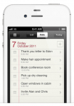 iPhone 4s reminders app