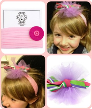 Chelsea Baby baby headband and snap-on bouquet