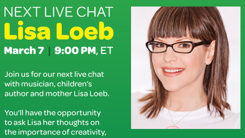 Lisa Loeb Crayola Inside the Box Live Facebook Chat
