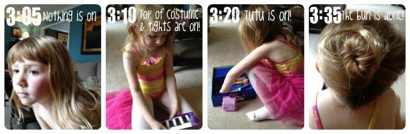 Wordless Wednesday - My Daughter's Ballerina Transformation