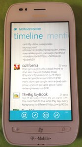 Nokia Lumia 710 Twitter view