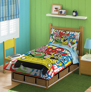 Yo Gabba Gabba 4-piece Bedding at WalMart