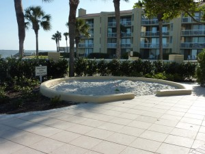 The King and Prince Beach & Golf Resort pool and sandbox