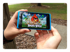 Angry Birds game on Nokia Lumia 900 Windows phone