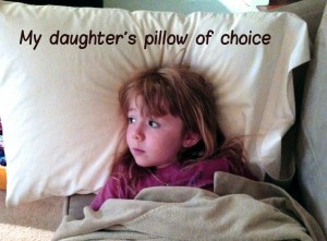 Comfortable pillow for children too!