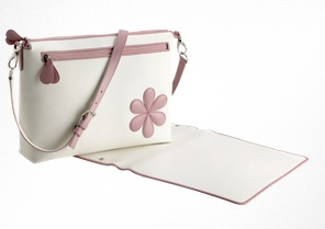 Post image for This Sophisticated Pineider Pink Flower Diaper Bag Fits Every Mom's Style But You Might Have To Save For It!