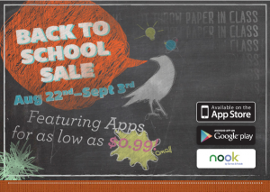 Loud Crow Interactive Back To School App Sale Through September 3rd!