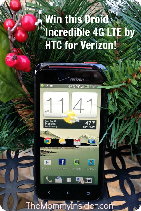 Win a Droid Incredible 4G LTE by HTC for Verizon smartphone