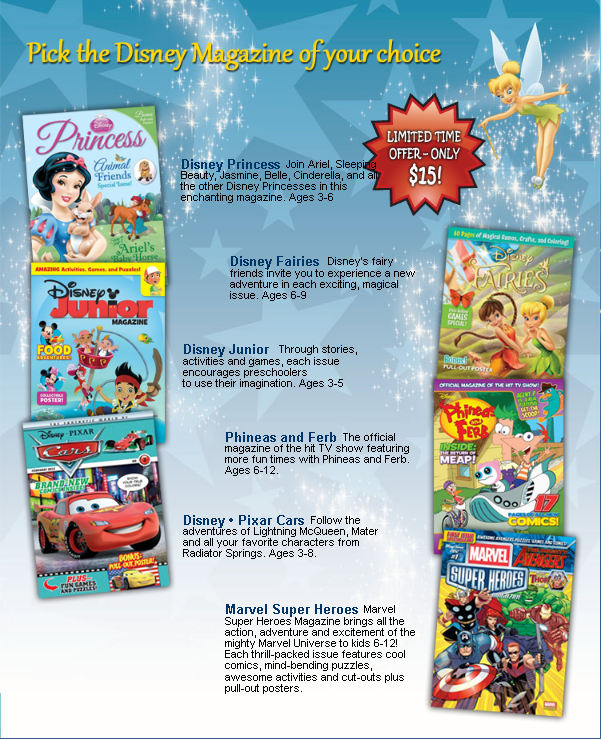 Disney iOS App and Magazine Subscription Sale!