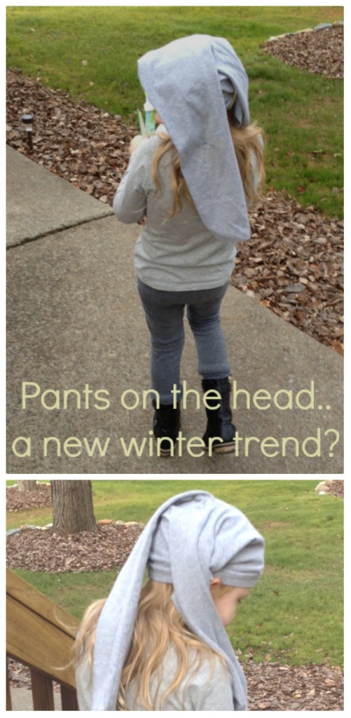 Pants on the head winter trend