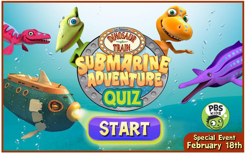 Dinosaur Train submarine adventure quiz