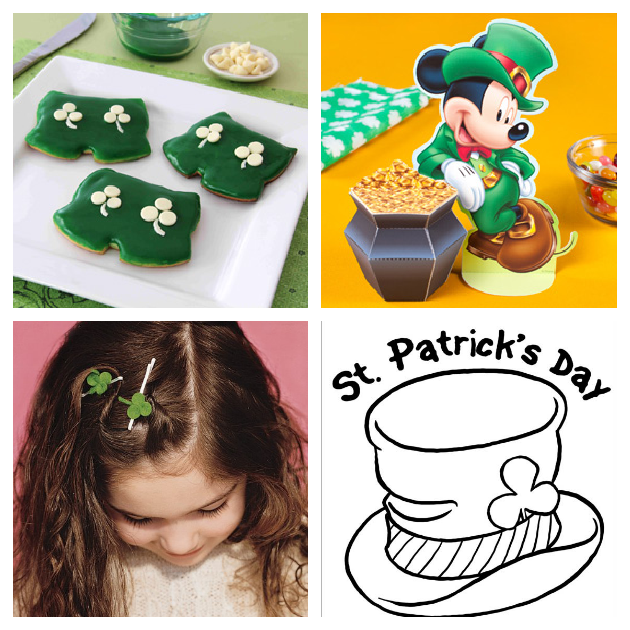 St. Patrick's Day coloring pages, cookies, crafts, and activities for kids