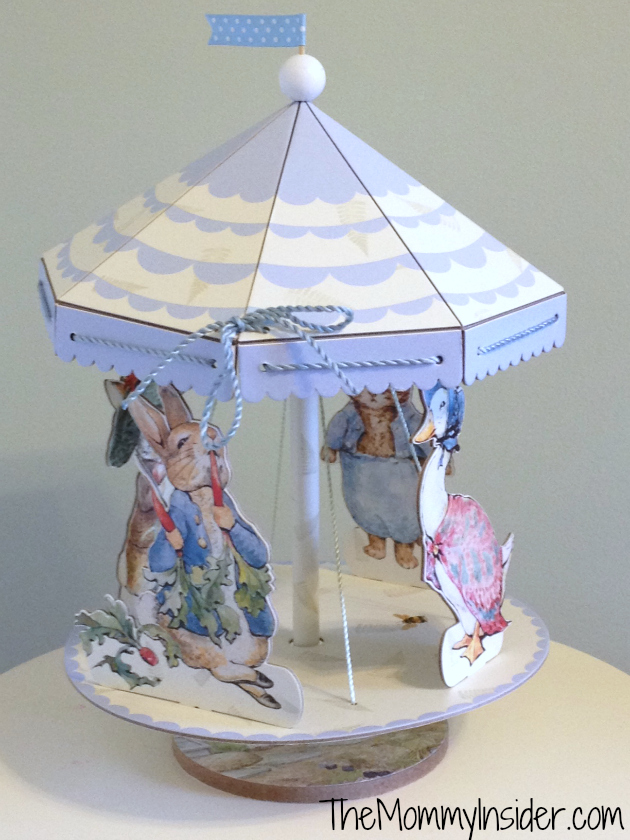 peter rabbit spinning centerpiece from Chasing Fireflies