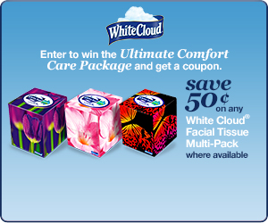 White Cloud Facial Tissues and The Ultimate Comfort Package Sweepstakes!