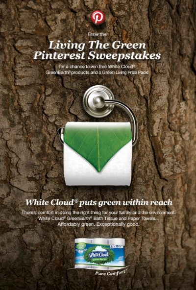 "White Cloud's GreenEarth Paper Products + Pin it to Win it ""Living the Green Sweepstakes"""