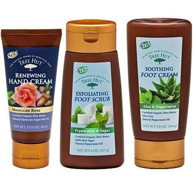 Tree Hut Hand & Foot Care products: Made with Certified Organic Shea Butter!