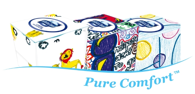 New White Cloud Facial Tissue Boxes designed from kids receiving treatment at Children's Miracle Network Hospitals, have arrived!