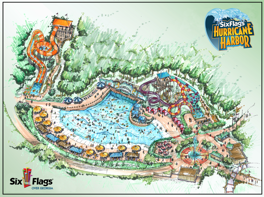 Six Flags Over Georgia Announces New Hurricane Harbor Water Park!