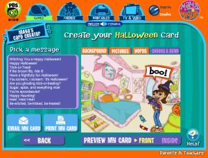 PBS Kids Halloween Card Creator