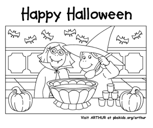 PBS Kids halloween coloring pages