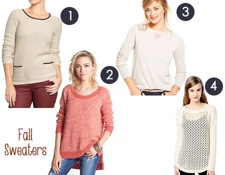 Four Fall Sweaters