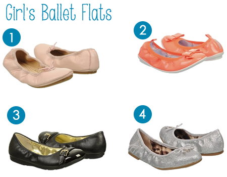4 Adorable Ballet Flats for Little Girls