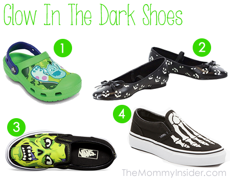 Glow In The Dark Shoes - Great For Halloween Trick or Treating!