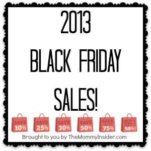 List of 2013 Black Friday Sales