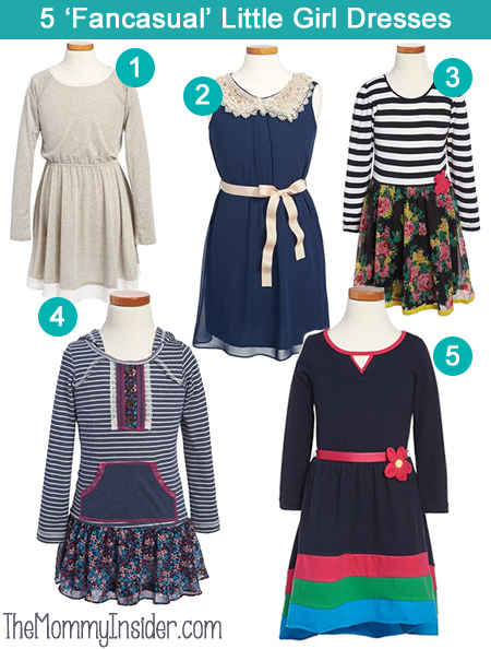 5 Fancasual (Fancy + Casual) Dresses For Little Girls