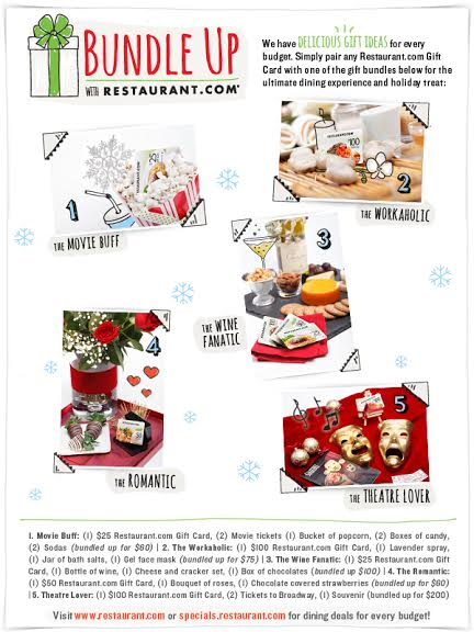Bundle Up the Restaurant.com Gift Guide and Giveaway