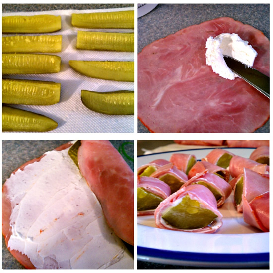 Super Bowl Sunday Appetizer Idea & Recipe: Pickle Wraps